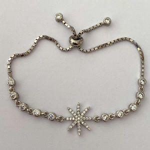 Star slider bracelet 925 silver cubic zirconia